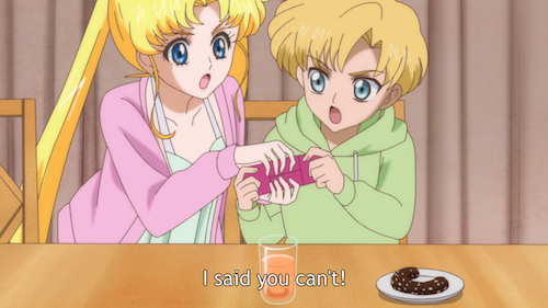 usagi and shingo fight in sailor moon crystal episode 10