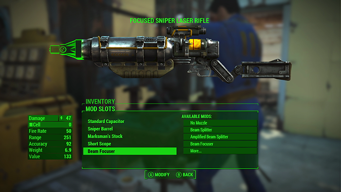focused laser rifle fallout 4