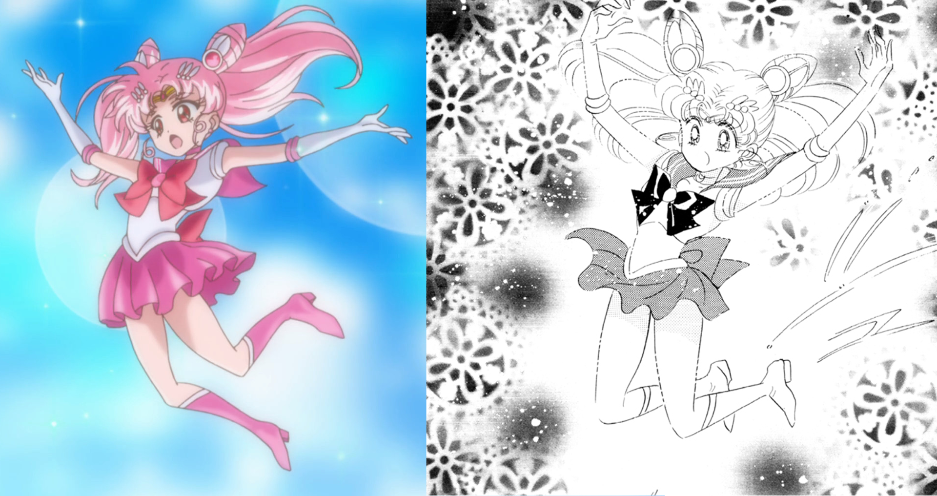 Sailor Moon Crystal Dark Moon Arc: Chibi Moon's Awakening Manga Comparison