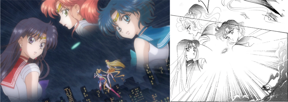 Sailor Moon Crystal Dark Moon Arc: Senshi Abduction Manga Comparison