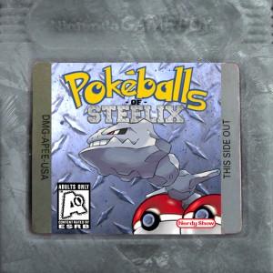 pokeballs of steelix logo cart