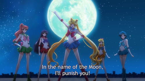 sailor moon crystal episode 8 - five senshi
