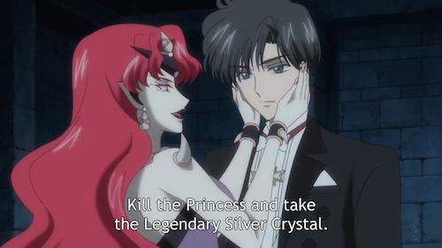 In Sailor Moon Crystal Episode 10, Beryl brainwashes Tuxedo Mask.