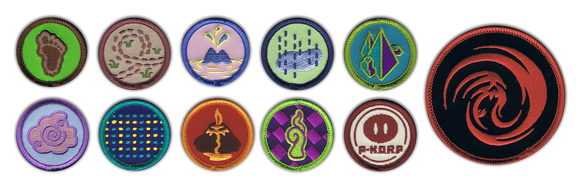 camp fangamer merit badges