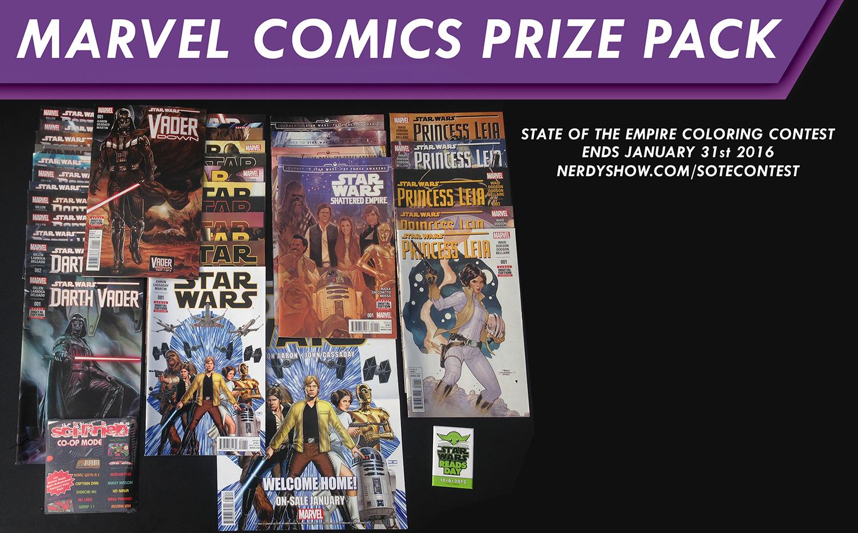 marvel comics prize pack